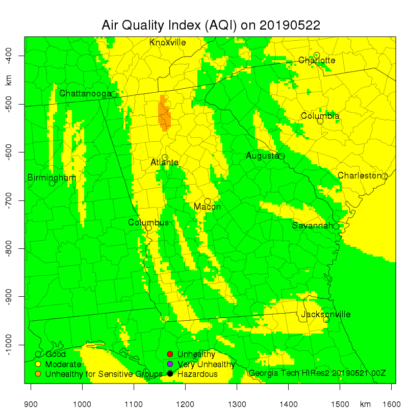 Daily Air Quality Forecast Map Not Found
